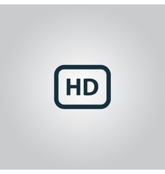 Hd word button vector image