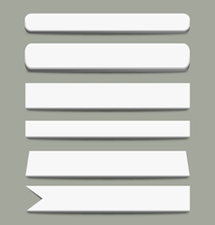 3d White Banners vector image vector image