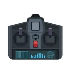 Drone remote control wireless device icon vector