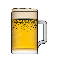 fresh beer in jar isolated icon vector image vector image