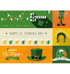 Happy St Patricks day banner vector image vector image