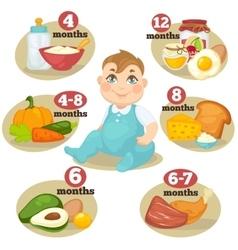 Healthy food for babies vector