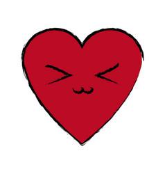 kawaii heart love romance cartoon symbol vector image