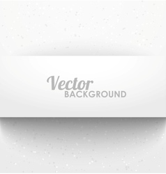 Paper rectangle banner with drop shadows vector image vector image