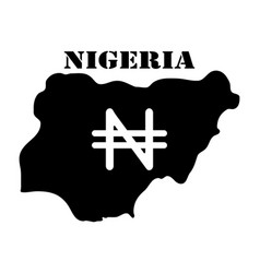 symbol of isle of nigeria and map vector image