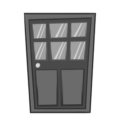 Wooden interior door icon black monochrome style vector image vector image