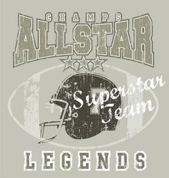 All star FootBall vector image