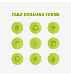 Flat icons collection vector image vector image