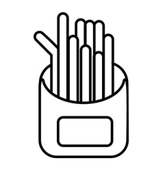 french fries icon outline line style vector image vector image