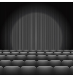 Grey Curtains with Spotlight and Seats vector image vector image