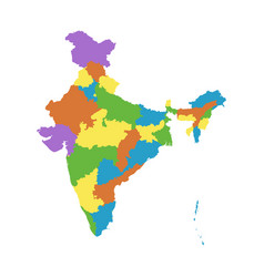 india map with federal states flat vector image