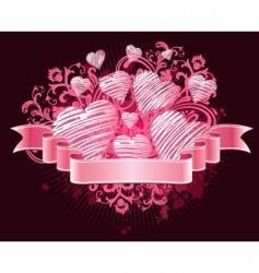 ribbon love vector image