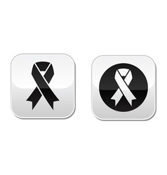 set of ribbons symbols for breast cancer vector image vector image