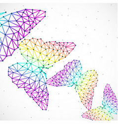 Abstract background with colorful butterflies of vector