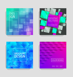abstract card concept set cards brochures vector image