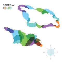 Abstract color map of Georgia vector image