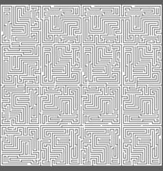 Abstract intricacy labyrinth maze monochromatic vector