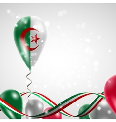 Algeria flag on balloon vector image