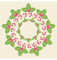 Amelia Christmas Whreath vector image