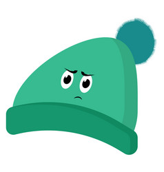 angry hat on white background vector image