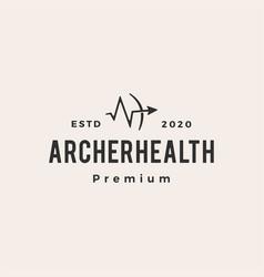 archer health hipster vintage logo icon vector image