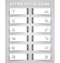 Astrological template vector