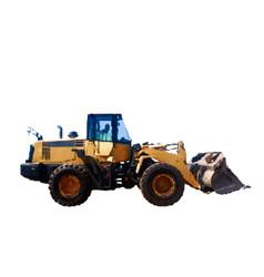 bulldozer isolated on white background vector image