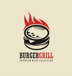 Burger logo design idea vector