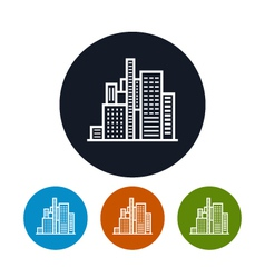 Business center icon city icon vector