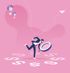 business financial audit concept vector image
