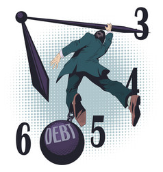 business man with debt stock vector image