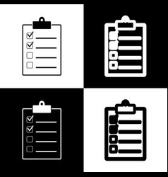 checklist sign black and vector image