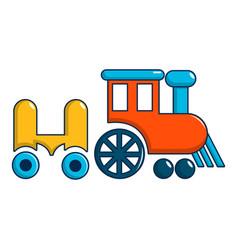 Children ride train icon cartoon style vector