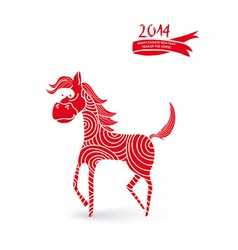 Chinese New Year cartoon horse vector image