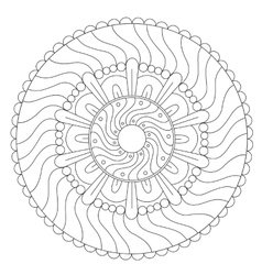 Coloring Geometric Wave Ornament vector