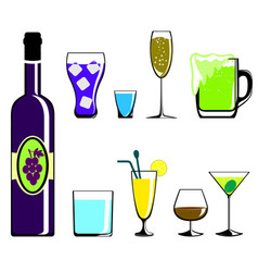 Colors drinks icon vector