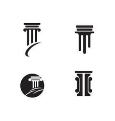 Column icon template vector