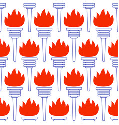 Contour torch pattern vector