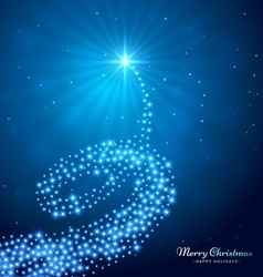 creative glowing christmas tree vector image