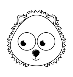 Cute lion character isolated icon design vector