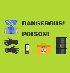 Dangerous poison concept banner flat style vector