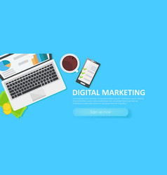 Digital merketing banner vector