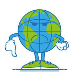 dont happy earth vector image