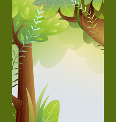 Fairy summer forest background vector
