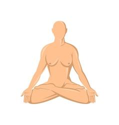 Female human anatomy yoga lotus vector