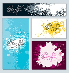 forms decorated stained paint and ink splashes vector image