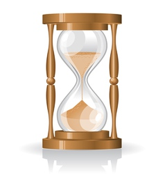 glass sand clock vector image