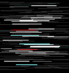 glitch elements set computer screen error vector image