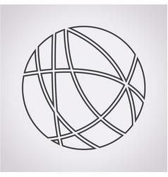 global social network icon vector image