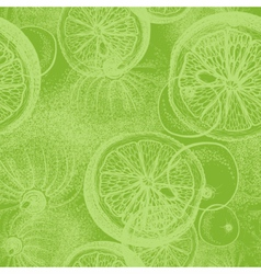Hand drawn lime Seamless wallpaper pattern vector image